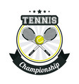 tennis sport championship banner image vector image