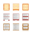 Set of color nightstand vector image