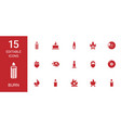 15 burn icons vector image vector image