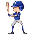 A baseball player with a bat vector image vector image