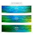 Abstract Technology Web Banners vector image vector image
