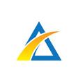 abstract triangle arrow business logo