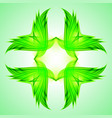 abstraction green symbol for web design vector image vector image