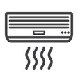 air conditioner line icon electric and appliance vector image vector image
