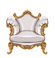 armchair gold ornamented watercolor baroque rich vector image vector image