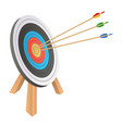 arrow hitting target design vector image
