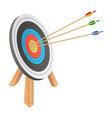 arrow hitting target design vector image vector image