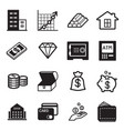 asset icons set vector image vector image