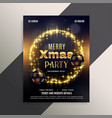 beautiful shiny christmas flyer poster design vector image