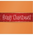 Big red gold Christmas Label on Orange Background vector image vector image