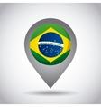 brazil flag pin vector image vector image