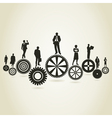 Business a gear wheel vector image vector image