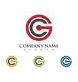 c letter logo template icon design vector image vector image