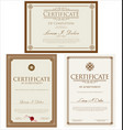 certificate template collection 2 vector image vector image