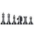 chess black set vector image vector image