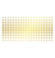 clock gear golden halftone pattern vector image vector image