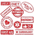 collection medical rubber stamp vector image vector image