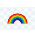 color rainbow with shadow on transparent vector image vector image