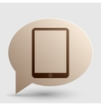 Computer tablet sign Brown gradient icon on vector image vector image