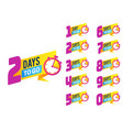 countdown badges product limited promo number of vector image