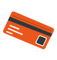 credit card with info owner banking and paying vector image vector image