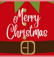 cute cjristmas card with elf costume vector image vector image
