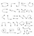 decorative arrows indian black crossbow arrows vector image vector image
