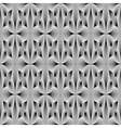Design seamless monochrome metallic flower pattern vector image vector image