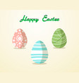 easter egg pattern paint color on yellow vector image vector image