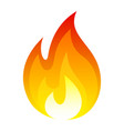 flame fire icon bright hot symbol vector image