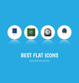 flat icon device set of receptacle transducer vector image vector image