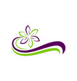 Flower ecology abstract beauty logo