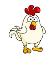 Funny fat little rooster or cock vector image