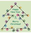 Garlands Christmas tree vector image vector image