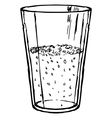 glass of cola vector image vector image