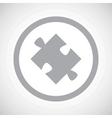 Grey puzzle sign icon vector image