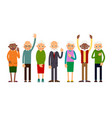 group of gesticulating elderly people vector image vector image