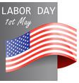 happy labor day usa wavy flag ill vector image