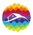 Home Rainbow Color Icon for Mobile Applications vector image vector image