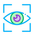 human eye scanning icon outline vector image