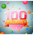 Hundred years anniversary celebration background vector image vector image