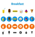 icons for fast food vector image vector image