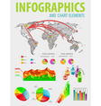 infographic set with colorful charts vector image vector image
