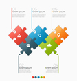 infographic template with 5 puzzle sections vector image vector image