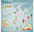 infographics color inv retro col vector image vector image
