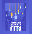 jewelry store typographic poster vector image vector image