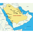 Kingdom of Saudi Arabia - map vector image