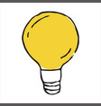 lamp doodle icon vector image vector image