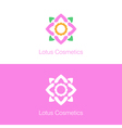 lotus logo template vector image