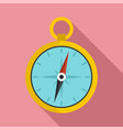 metal compass icon flat style vector image vector image